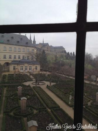 View over Residenz gardens