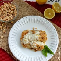 Hazelnut Crusted Cod with Lemon Butter Sauce