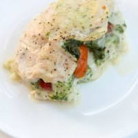 Paleo Peppadew Pesto Stuffed Chicken