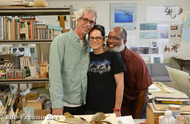 Founding members of the Corridor 2122 art studio and gallery are left to right, Stephen and Aimee Dent, and William Raines.