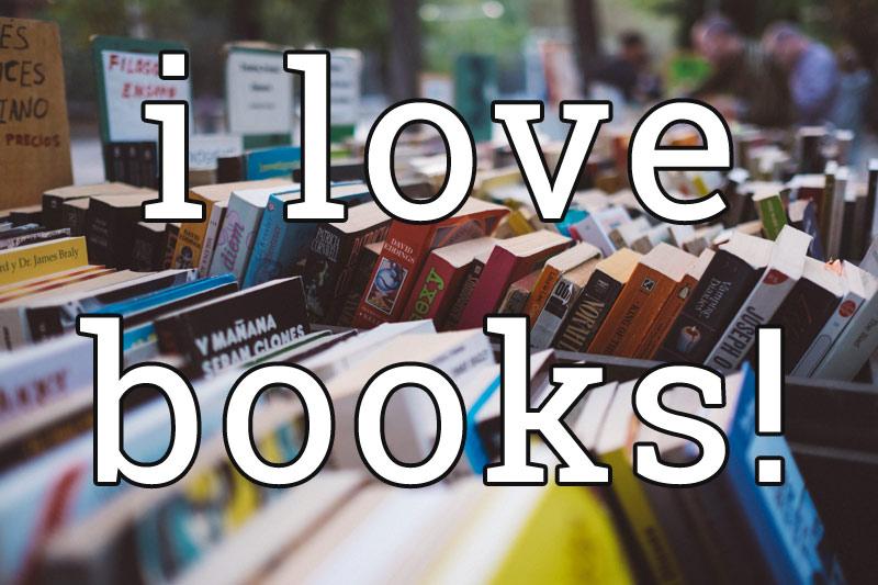 I love books - Book Sale bins