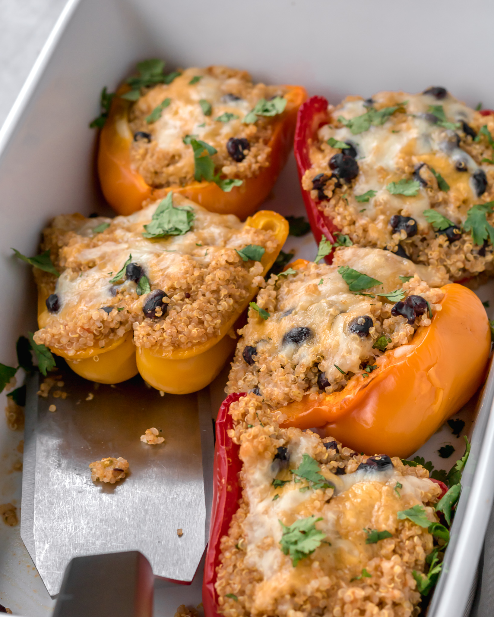 Easy Vegetarian Stuffed Peppers