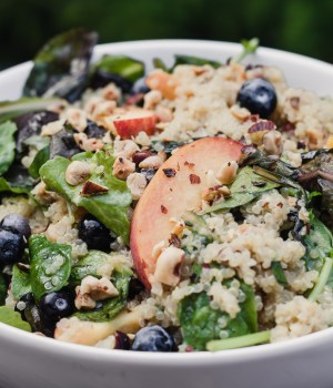 Summer Peach Quinoa Salad