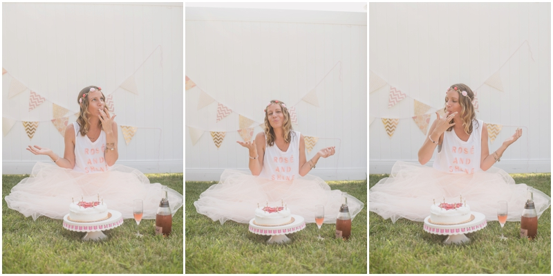 south jersey photographer, adult cake smash, blush and gold