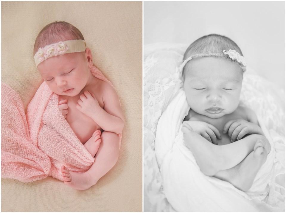 south jersey newborns, baby girl, neutral, lace, cream, pink, teddy bear