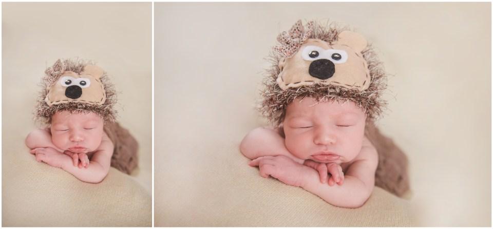 south jersey newborns, baby girl, neutral, hedgehog