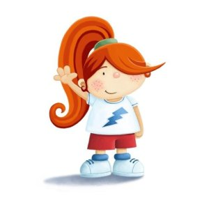 Little red-haired girl