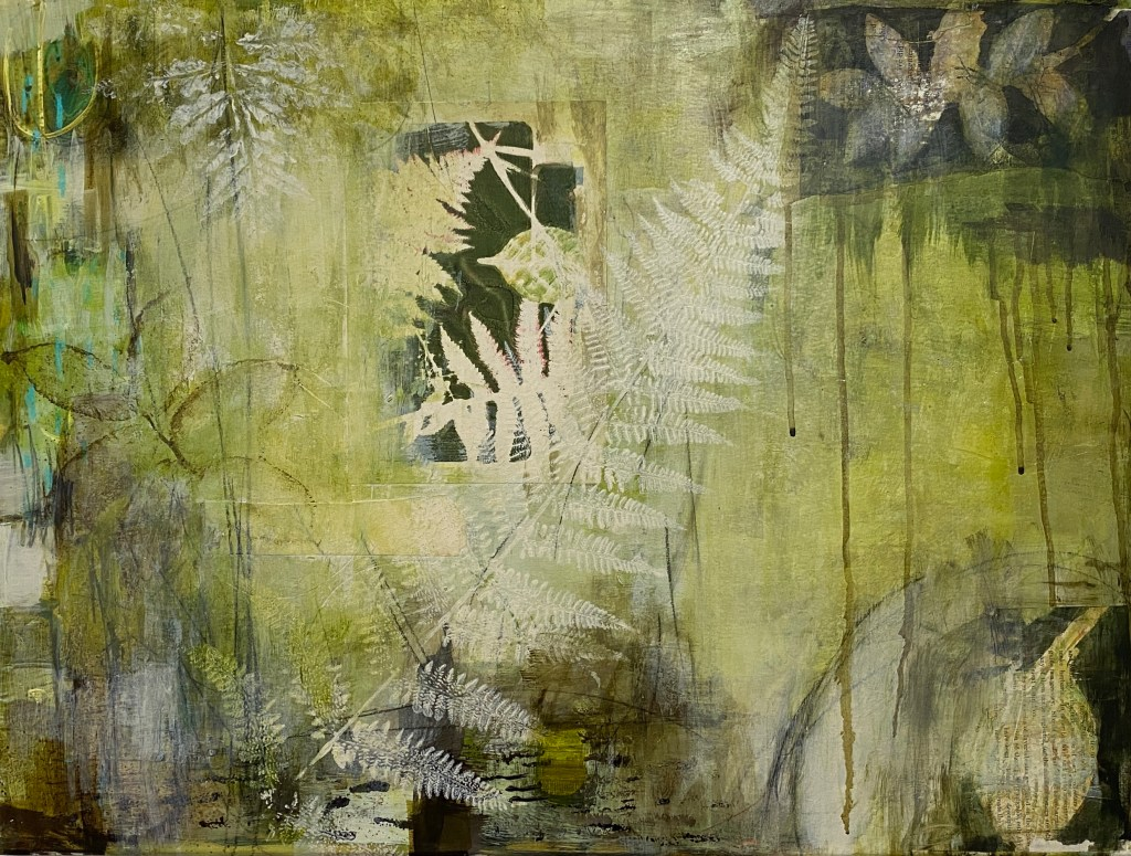 Monotype from Nature Abstract Painting