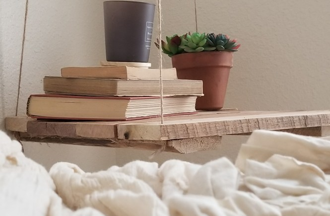 DIY projects, floating, hanging wood nightstands, tutorial projects, beginner DIY #DIY #hanging #wood #nightstands #homedecor