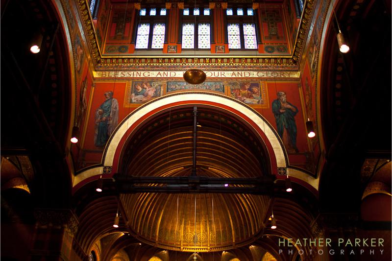 Trinity Church Boston Wedding Photography  Architectural
