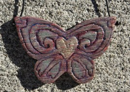 steampunk butterfly necklace 009