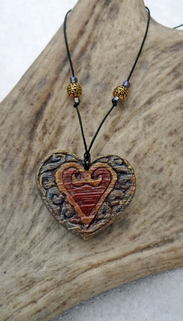 Steampunk Heart Necklace 004