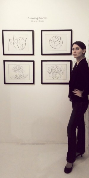 Heather Scott at her first gallery solo show