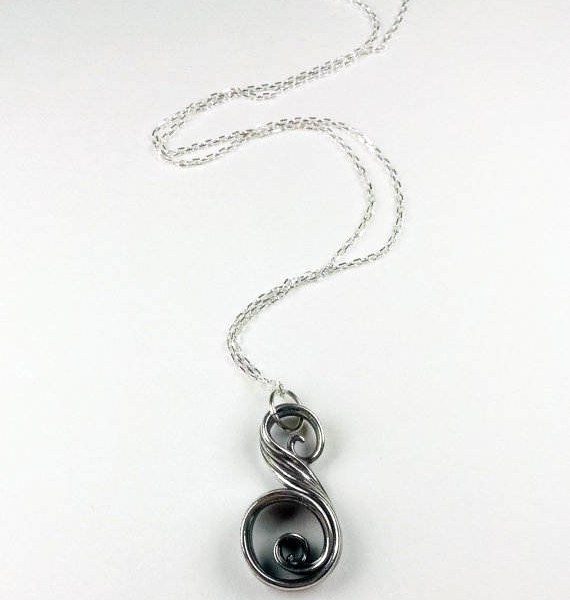 swirl necklace and chain