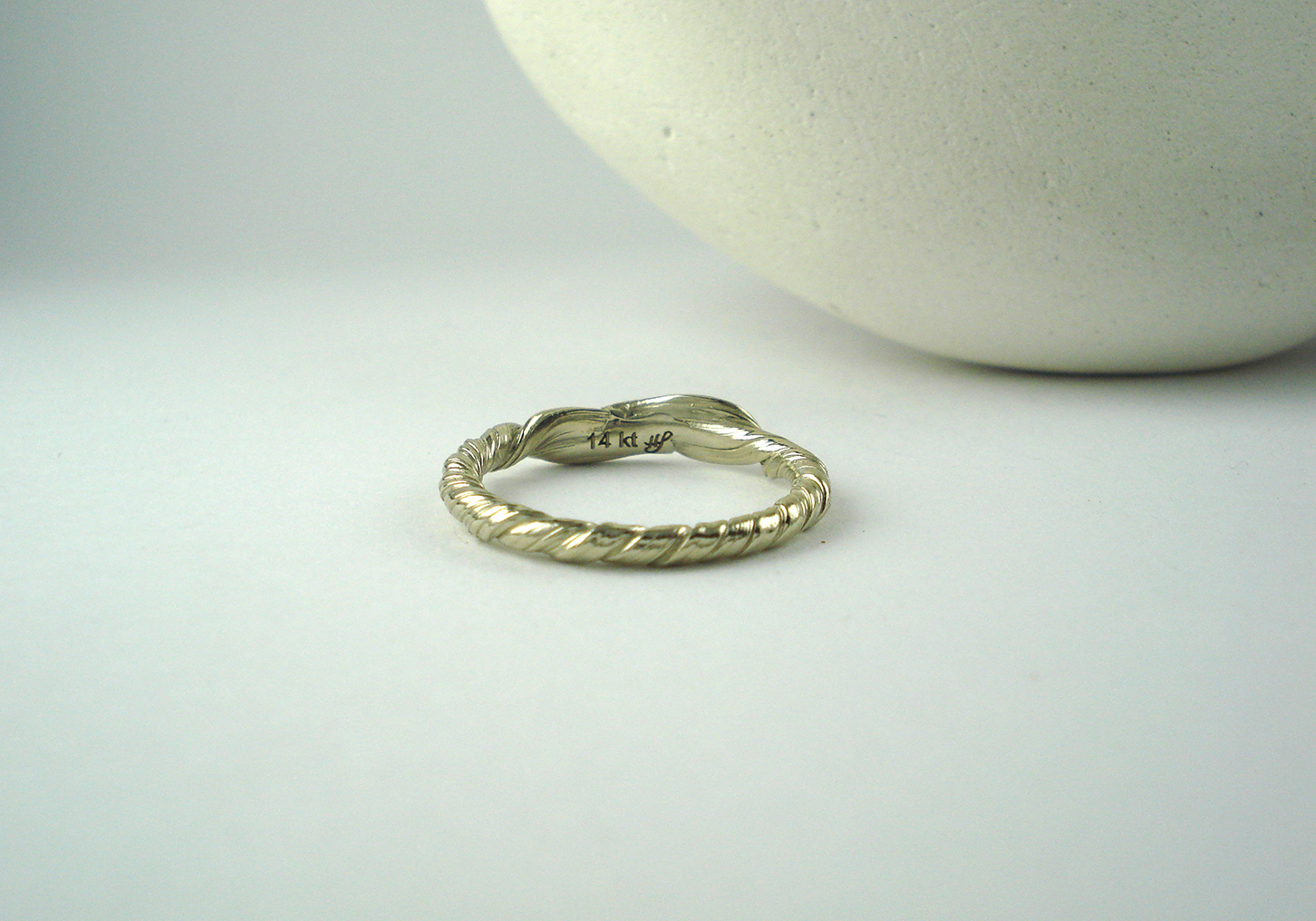 mitsuro leaf wedding band back - Leaf Wedding Ring
