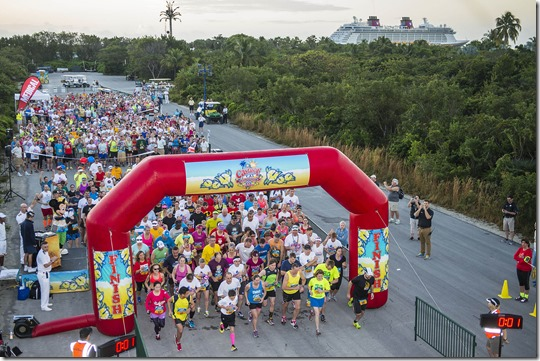 Inaugural Castaway Cay Challenge 5K Event on Disney Cruise Line Private Island