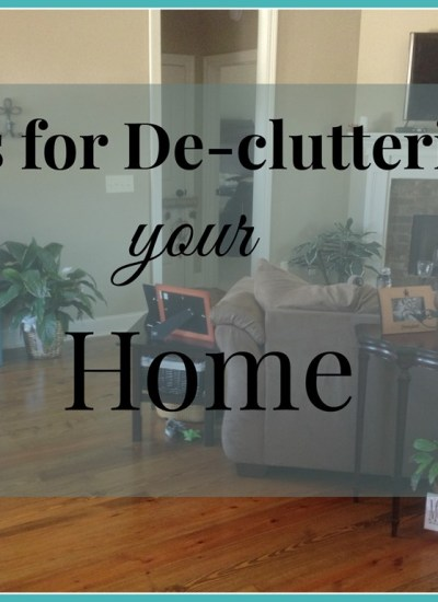 10 Easy Tips for De-cluttering Your Home