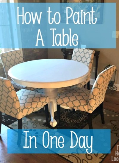 How to Paint a Table in One Day
