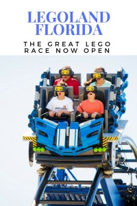 Legoland Florida has a new ride, the great LEGO race, with virtual reality technology@