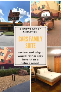 Cars family suite at Disney's Art of Animation resort