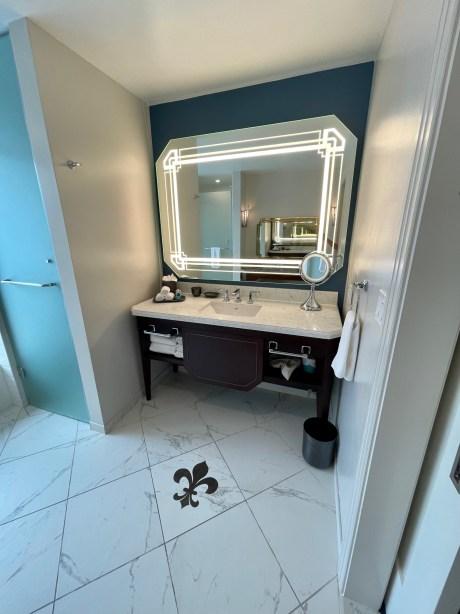 New Orleans hotel bathroom