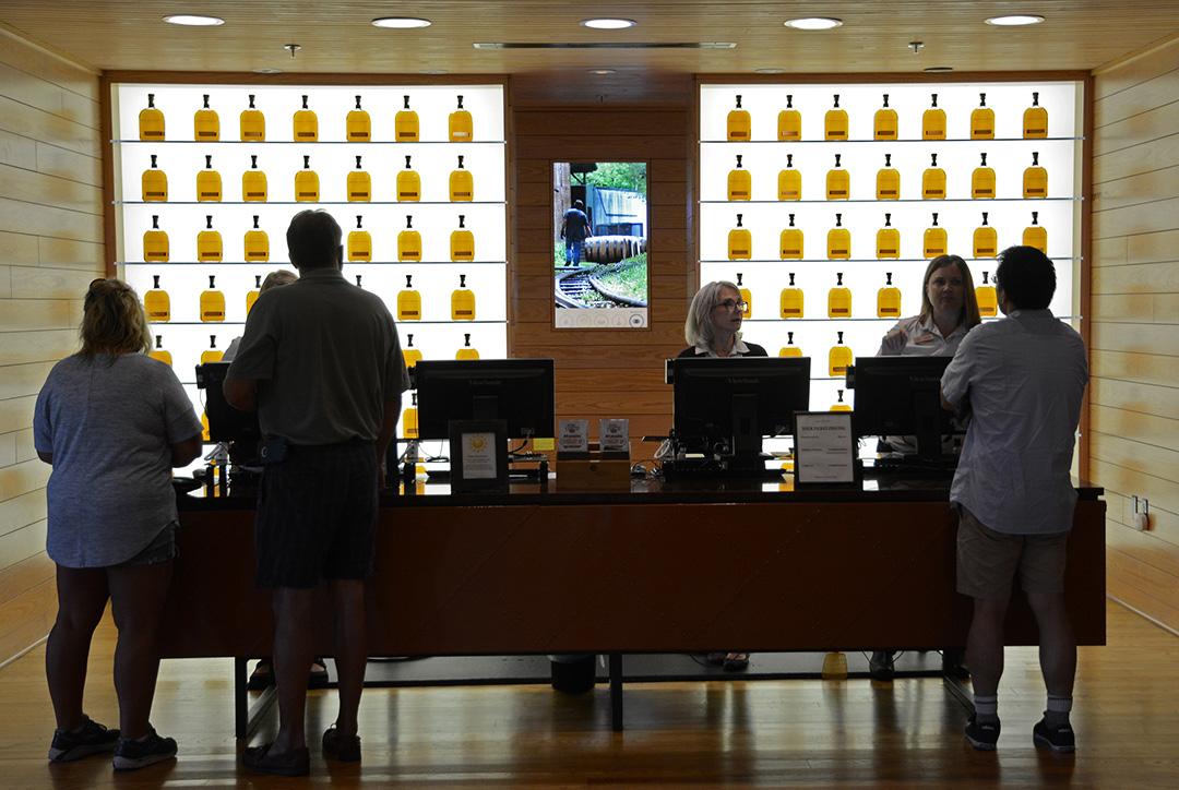 Woodford Reserve Distillery visitors center. Woodford Reserve Bourbon.