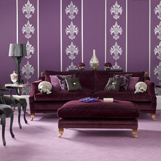 purple and silver living room ideas Pause for Something Pretty in Purple | Thorn in My Heart