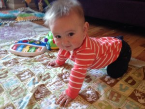 Harrison trying to crawl