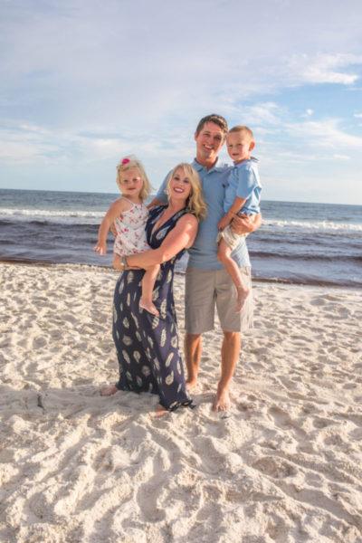 Family beach photo