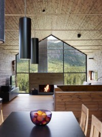 Home Style: Fireplace in a Wall of Windows  Heather Zerah ...
