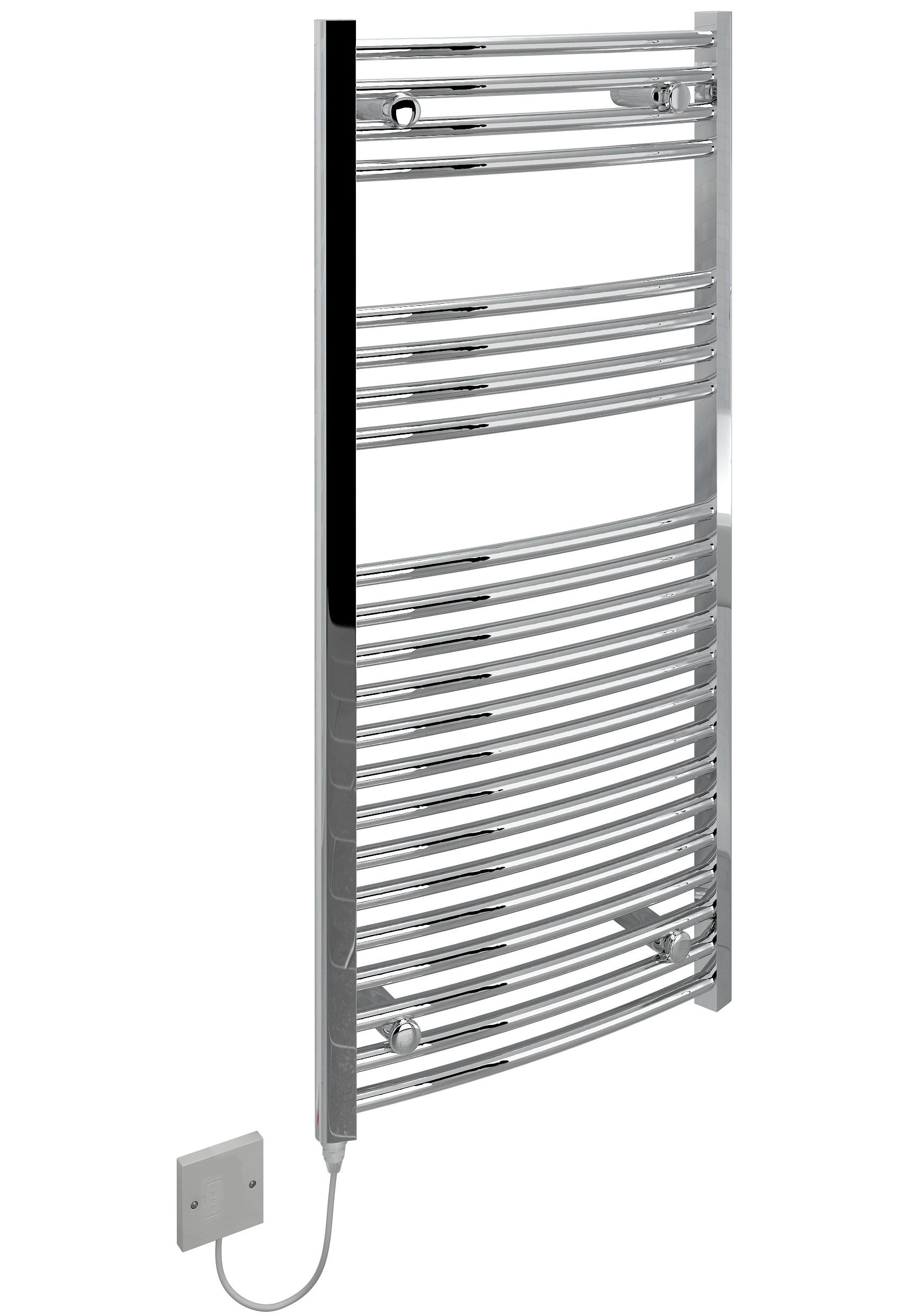 Kudox Electric Towel Rail Curved Chrome 250W (500 x 1100mm
