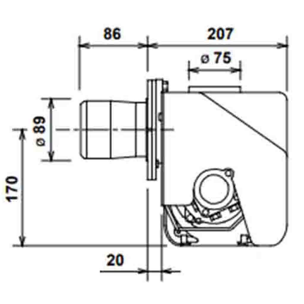 Riello RDB2.2 Firebird Burner, 21‑26kW, Diesel, 3515305