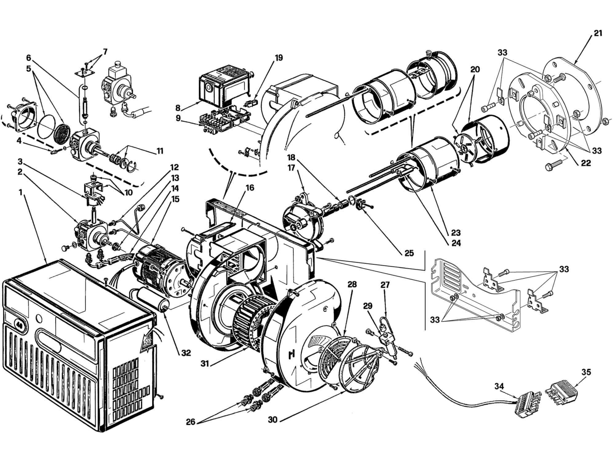 Buy Riello R40 G20 Burner Parts at Heating Parts Warehouse