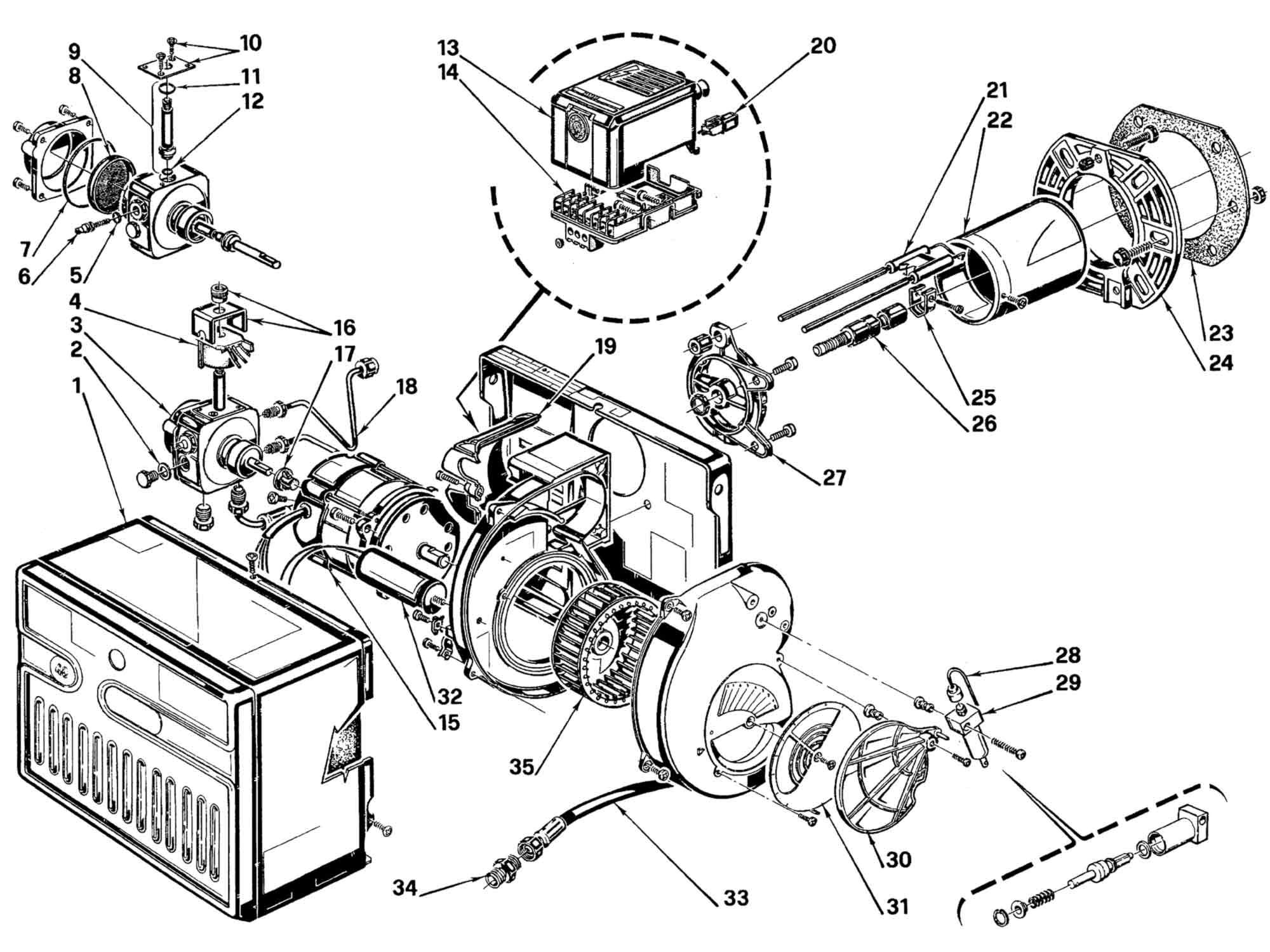 Firebird Compatible Riello R40 G3 Burner Parts
