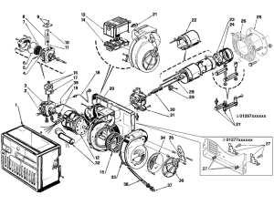 Riello R40 G5 Burner Parts | Heating Parts Warehouse
