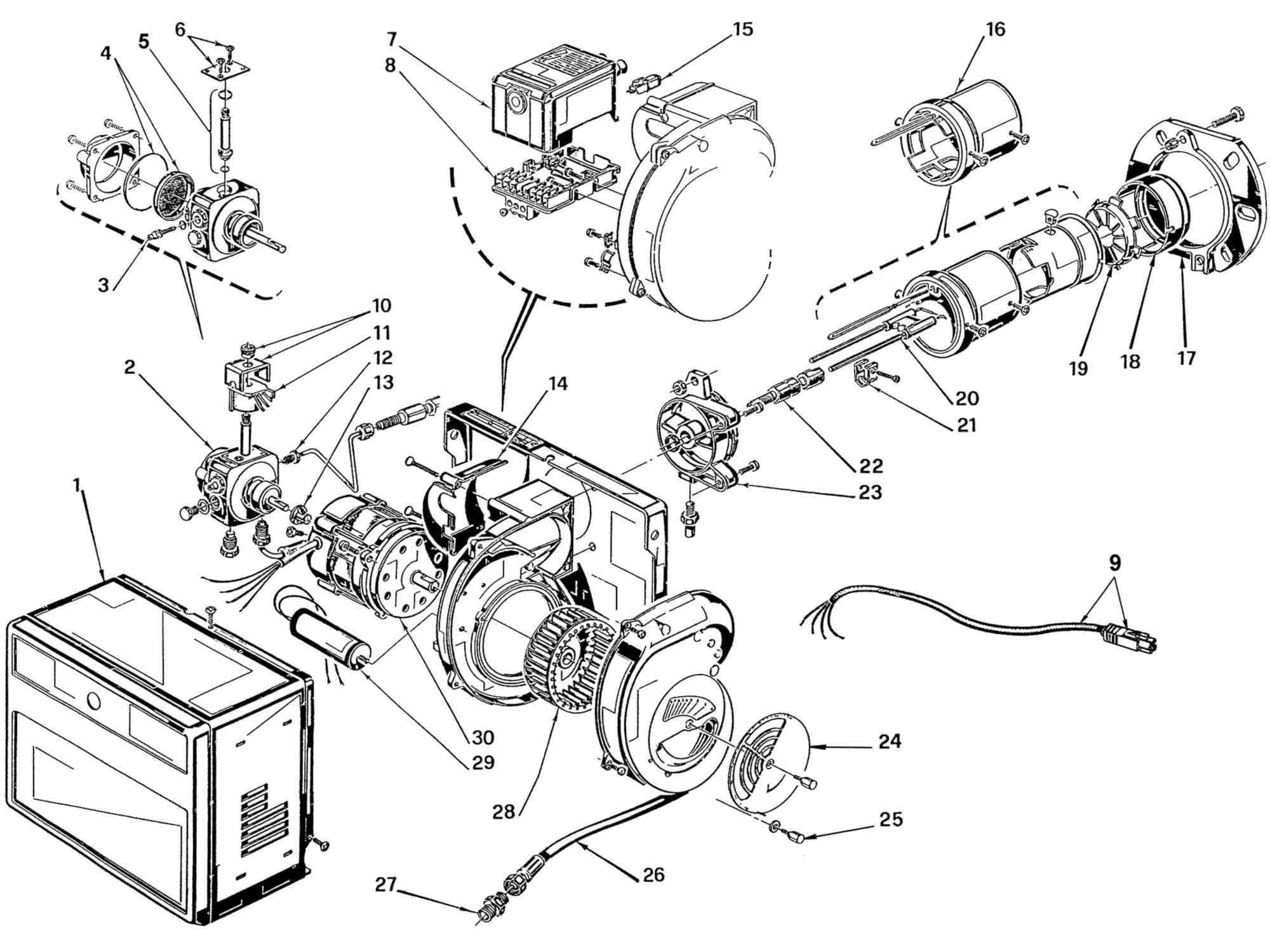 hight resolution of riello r40 g7 burner parts wiring diagram kirby ultimate g