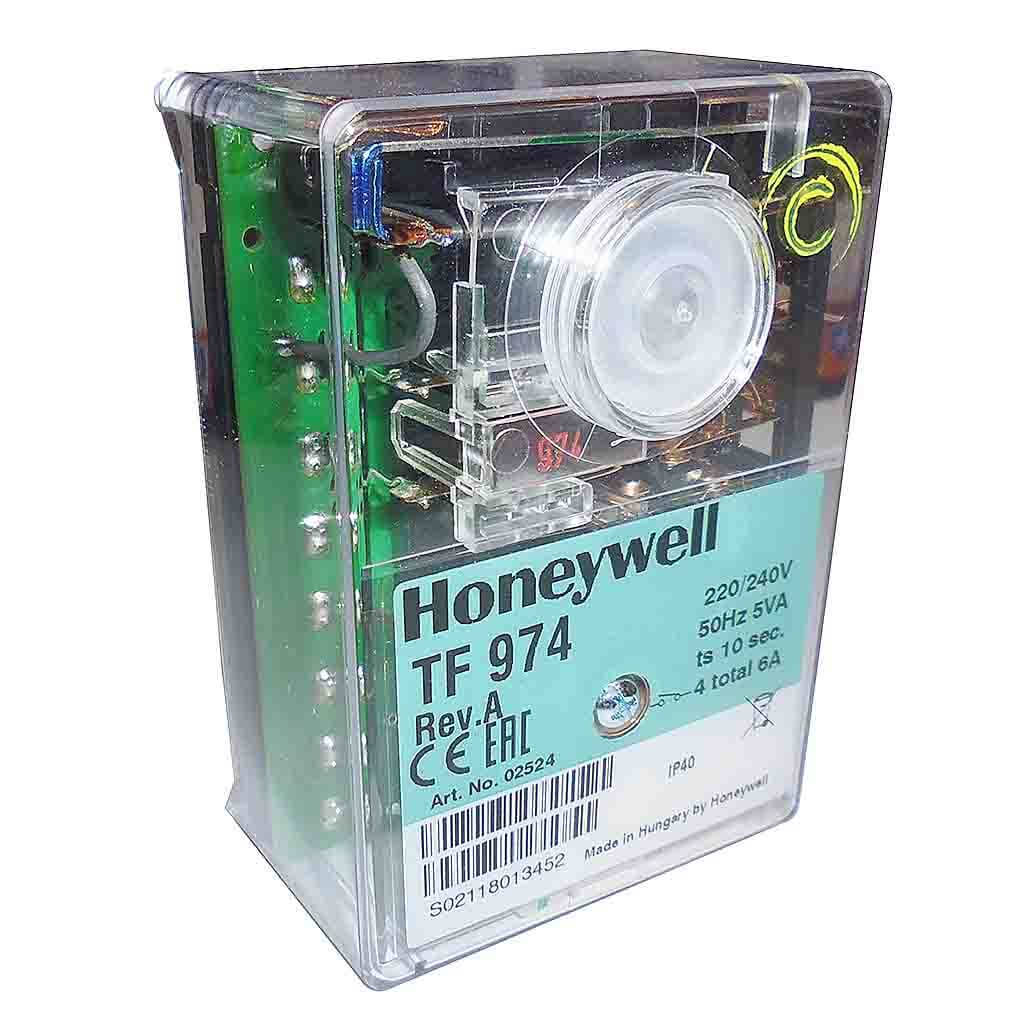 hight resolution of honeywell satronic tf 974 control box side view photo