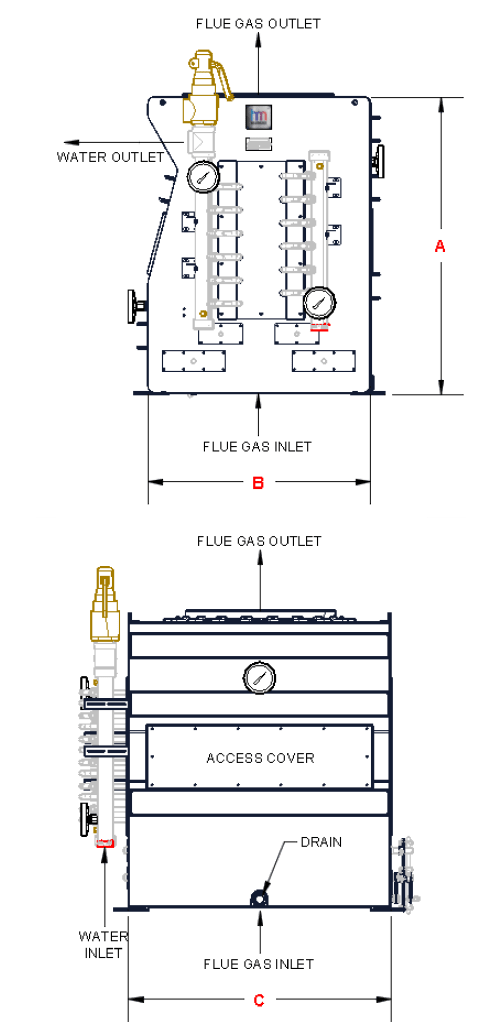 small resolution of heat recovery exchange boiler economizer heatmizer arrow pipe diagram stack economizer piping diagram