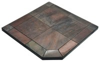 Fireplace Hearth Pads bone slate 48 x 48 single cut corner ...