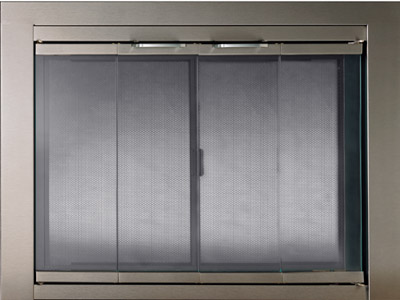 contemporary in fireplace glass doors fireplaces hearth portland williamette the