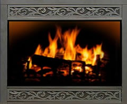 Wrought Iron Glass Fireplace Doors in Okemos Michigan