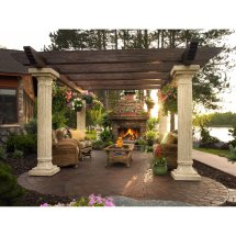Tuscan Outdoor Pergola Designs