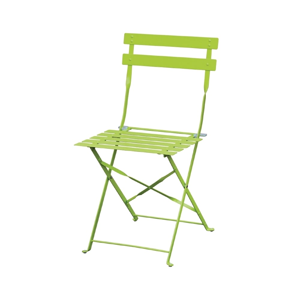 Lime Green Chairs Bolero Bolero Lime Green Pavement Style Steel Chairs Pack 2