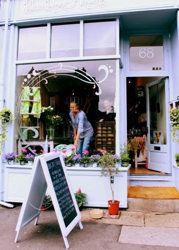 Shop Front - Blue Door Flowers