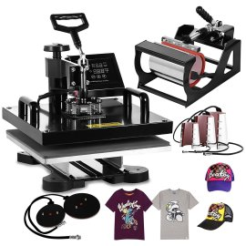 "BestEquip 8 in 1 15""x15"" multi heat press"