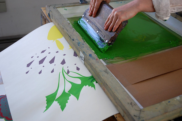 silk screen printing for art works