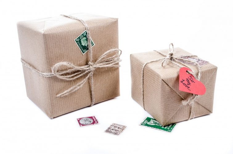 presents wrapped in boxes