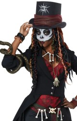 voodoo costume magic witch doctor halloween master fancy dress african womens cc wicked