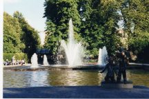 Fountains in oslo park