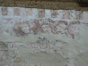 Wall painting in the Ivy Church